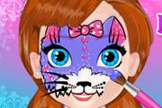 Рисуем на лице малыша Анны