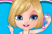 Baby Barbie Selfie Card
