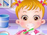 Малышка Хейзел ухаживает за зубами