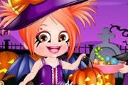 Малышка Хейзел наряжается на Хеллоуин