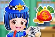 Baby Hazel Police Dressup