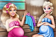 Barbie And Elsa Pregnant Sauna