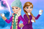 Elsa And Anna Winter Fun