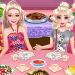 Elsa And Barbie Buffet Date