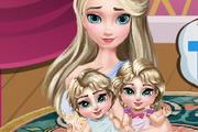 Эльза заботится о близнецах