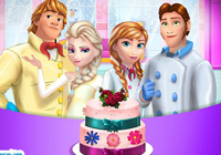 Frozen Family Cooking Wedding Cake