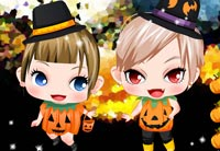 Girls In Pumpkin House