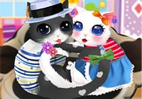 Heart Cats Dressup