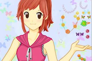 Japanese anime girl makeover