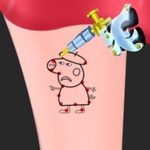 Peppa Pig Tattoo Design