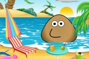 Pou At The Beach