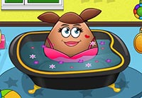 Pou Girl Bathing