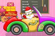 Рождественская машина Санты-миньона