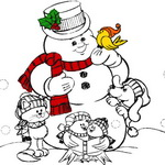 Snowman Coloring Book