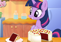 Twilight Sparkle Cooking Red Velvet Cake