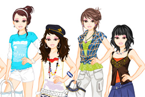 Ty Girlz Dress Up Game